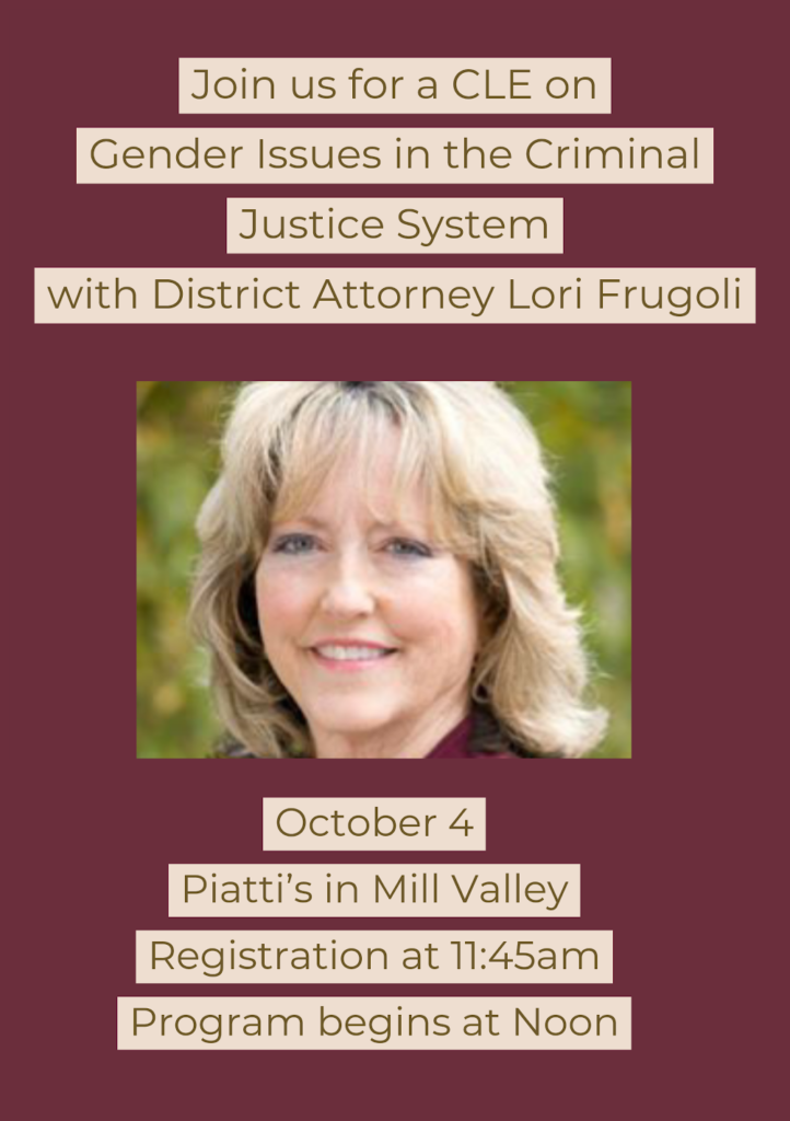 Gender Issues in the Criminal Justice System: A Woman's Journey from Police Officer to Prosecutor and What She Learned Along the Way @ Piatti's
